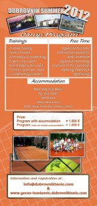 Dubrovnik Summer Tennis Camp for Juniors by Goran Ivanisevic