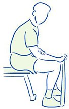Figuur 3 - Polsblessure - Tendinopathie - Versterken van de polsstrekkers