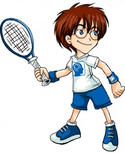 Slim tennis kids