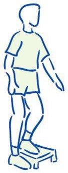 Figuur 5 - Versterken bovenbeenspieren - enkelbenig op traptrede