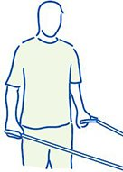 Figuur 5 - Slap Laesie schouderblessure - Extensie tegen weerstand