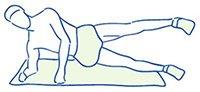 Figuur 5 - Kniepijn - Blessure buitenzijde knie - Versterken van heupspieren - zwaar